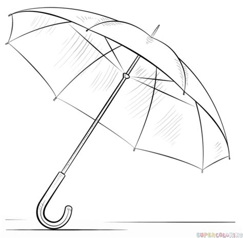how to draw an umbrella step by step drawing tutorials