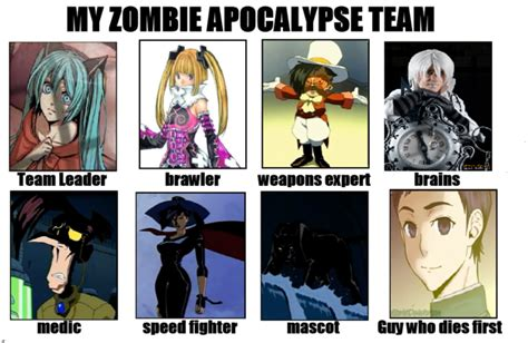 Zombie Apocalypse Team Meme - zombie apocalypse team know your meme