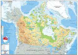 Canada Physical Map by Pics Photos Wall Maps Canada Wall Maps Canada Physical