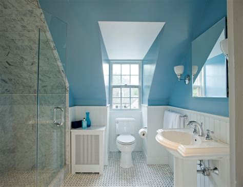 Small Dormer Bathroom Great Places Small Spaces Traditional Bathroom