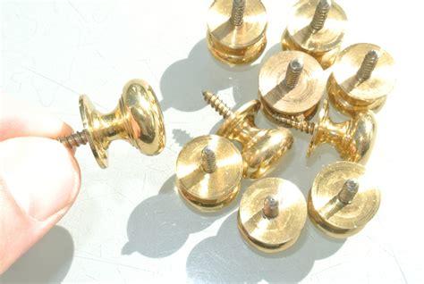 Brass Drawer Knob by 10 Small Knobs Pulls Handles Antique Solid Heavy Brass Drawer Knob 19 Mm Silk Road