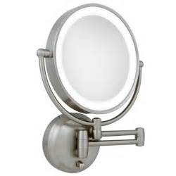 wall mounted lighted magnifying bathroom mirror magnifying mirrors