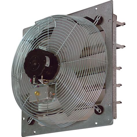 exhaust fan with shutter tpi shutter mounted direct drive exhaust fan 16in