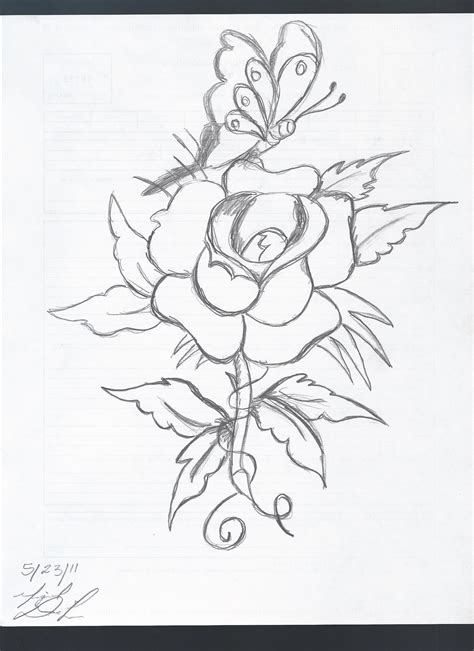 butterfly and rose drawing home369 169 2018 nov 23 2011