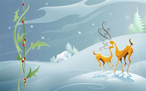 wallpaper christmas reindeer reindeers in the snow wallpaper