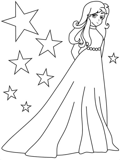 girl template coloring page coloring pages for girls 21 free printable word pdf