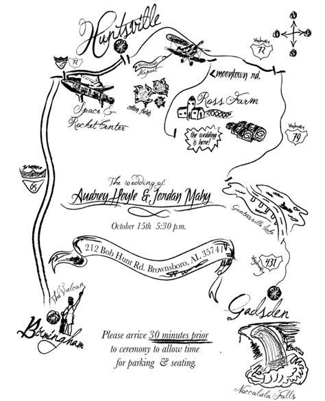 wedding invitation map insert mahy portfolio - Map Wedding Invitation Insert