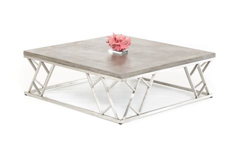 Cement Coffee Table Modrest Scape Modern Concrete Coffee Table