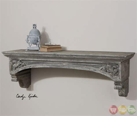 Grey Fireplace Mantel by Lusila Gray Weathered Wood Fireplace Mantel 24803