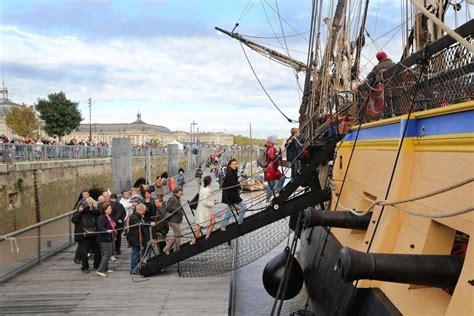 hermione bateau video bordeaux 224 bord de quot l hermione quot pendant les visites