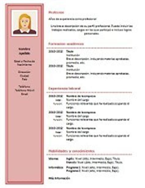 Plantillas De Curriculum Vitae Para Completar 69 Modelos De Curriculum Vitae Exitosos Para Descargar En Word