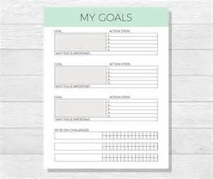 Goals Planner Template 32 Best Images About Printables On Pinterest