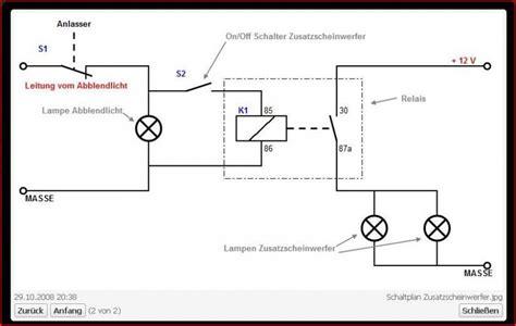 Schaltung Zusatzscheinwerfer Motorrad by Anschluss Von Zusatzleuchten