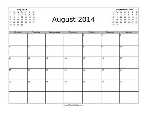 printable monthly calendar august 2014 august 2014 calendar free printable allfreeprintable com