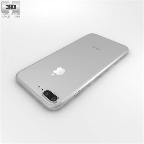 apple iphone 7 plus silver 3d model hum3d