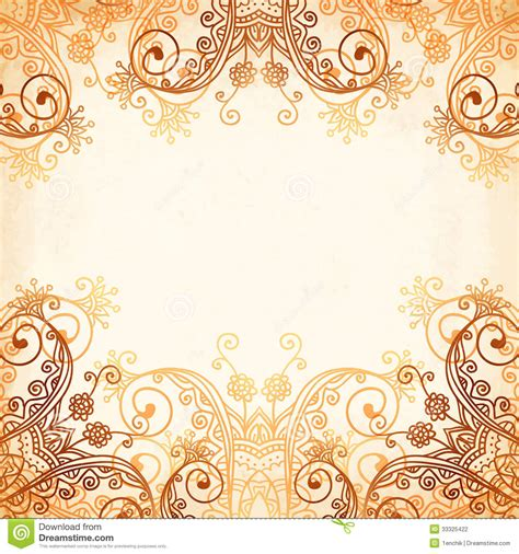 ornate vintage circle pattern in mehndi style stock vector