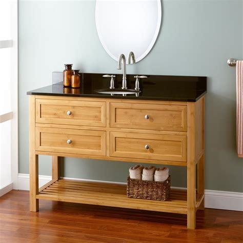 48 quot narrow depth taren bamboo vanity for undermount sink