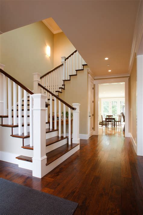 new banisters craftsman new home traditional staircase san