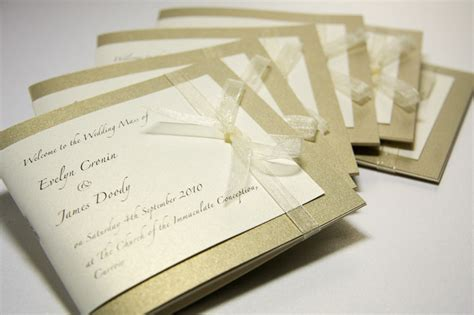 layout of mass booklet bluebell wedding invitations and stationery supplies