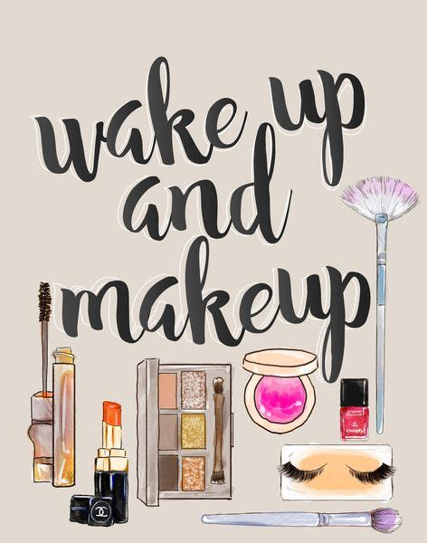 makeup wallpaper pinterest wake up and make up art print by sara eshak society6