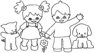 kids holding hands colouring pages