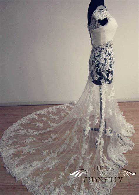 Wedding Dress Lace Overlay by Process Show Time Custom The Shoulder Lace