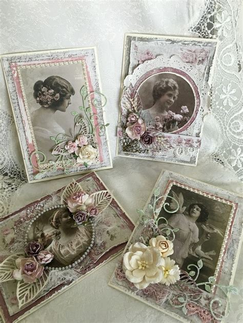 Handmade Vintage Cards - 17 best ideas about vintage handmade cards on