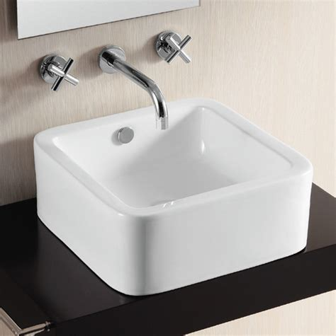 square sink bathroom elegant square white ceramic vessel bathroom sink by