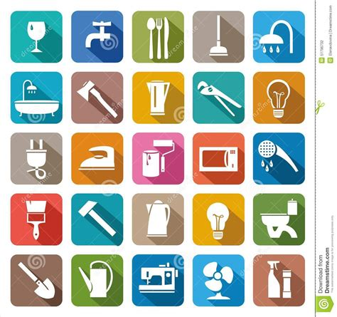 what are household products household goods household products stock vector image
