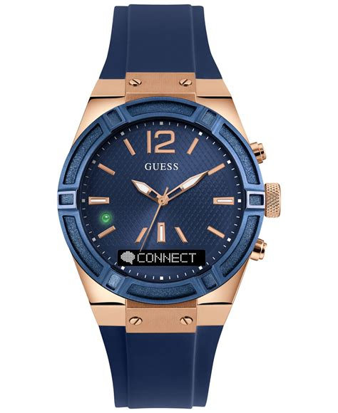 Smartwatch Rubber Blue guess s analog digital connect blue silicone