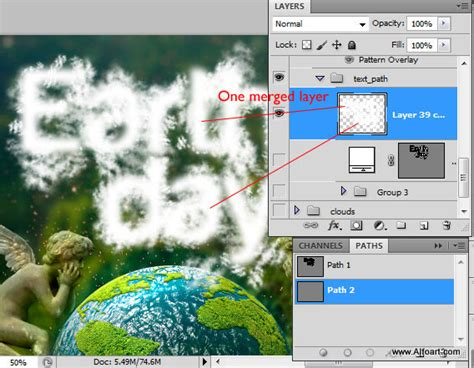 Kaos Go Green Collection Earth Text earth day and realistic clouds text effect photoshop tutorial plus free clouds brushes