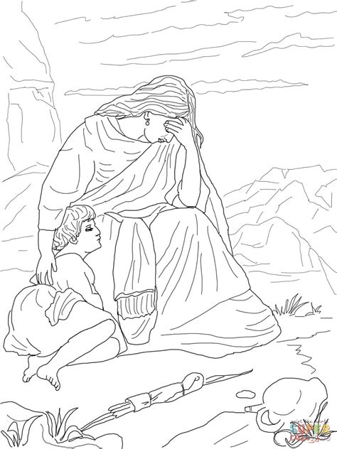 Hagar And Ishmael Coloring Page hagar and ishmael coloring page free printable coloring pages