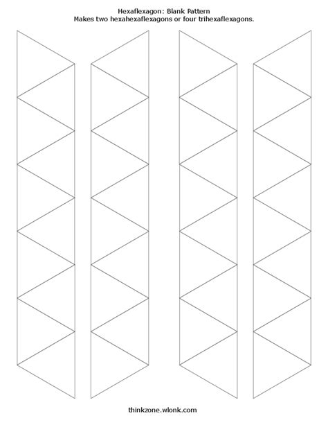 blank and decorated hexahexaflexagon template free