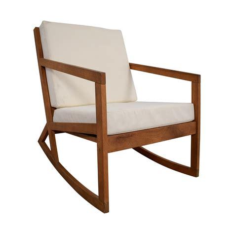 buy chair 55 safavieh safavieh white upholstered wood rocking chair chairs