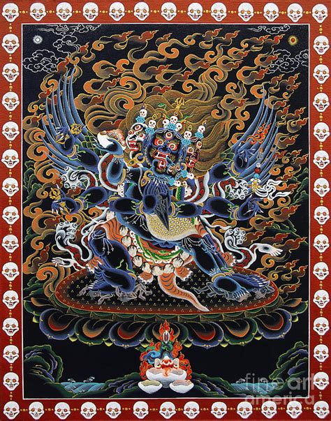 Home Decor Apps For Ipad by Vajrakilaya Dorje Phurba Painting By Sergey Noskov