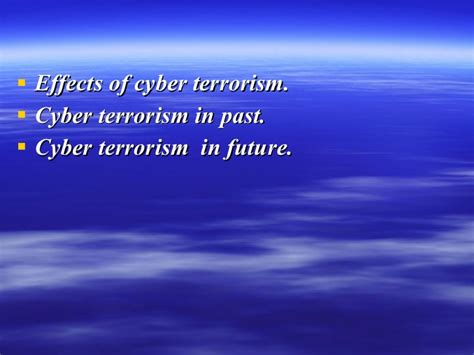 Cyber Terrorism Essay by Research Paper On Cyber Terrorism