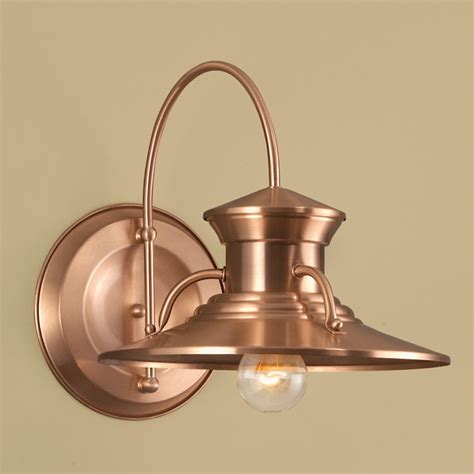 Copper Outdoor Lights Norwell Lighting Budapest Copper Outdoor Wall Light 5155 Co Ng Destination Lighting