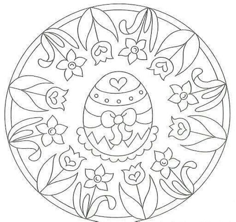 easter mandala with birds and eggs coloring page free easter egg mandala coloring page
