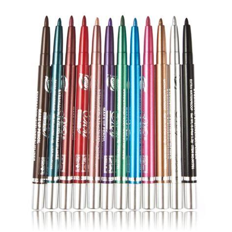 Sale Pencil Warna Mac Eyeshadow Eyeliner Keren aliexpress buy 12pcs set stage makeup shimmer eyeliner pencil 12color waterproof
