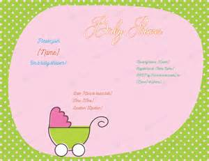 Invitation For Baby Shower Template by Free Baby Shower Invitation Templates For Word Gangcraft Net