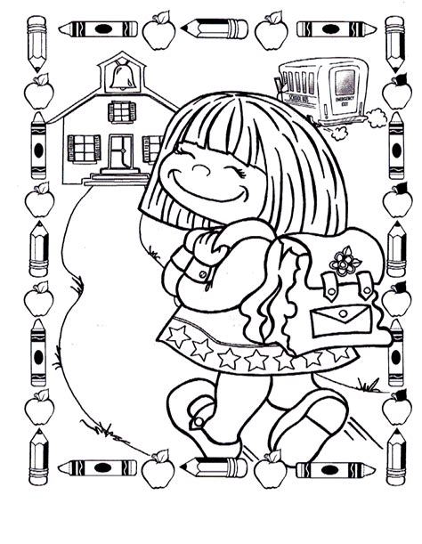 free coloring pages of 1st day of school