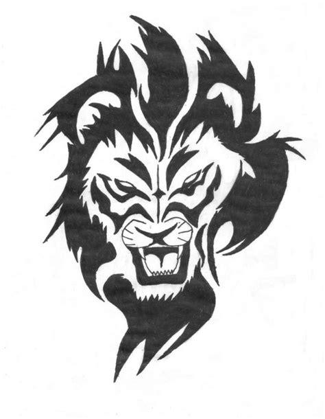 tattoo old school leone tatuaggio tribale che raffigura il leone il significato