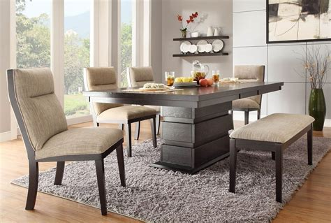 dining bench and chairs modern and cool small dining room ideas for home