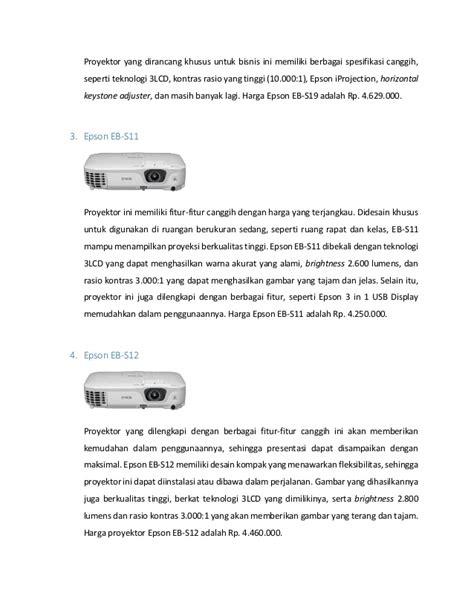 5 proyektor epson murah dibawah 6 juta