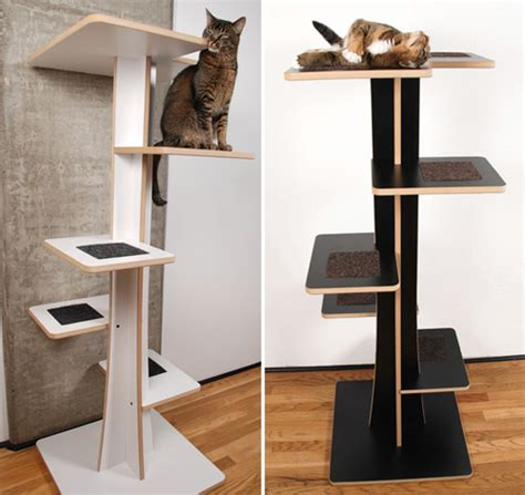 modern cat tree acacia baobab modern cat trees from square cat habitat