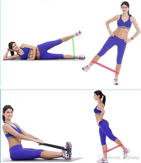 Band Loop Tension Rope Fitness tension resistance band pilates rubber resistance bands fitness loop rope stretch bands