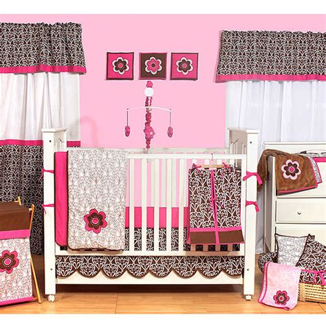 bacati floral damask 10pc nursery in a bag crib bedding