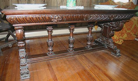 antique library table for sale renaissance revival walnut library table c 1875 1900 for
