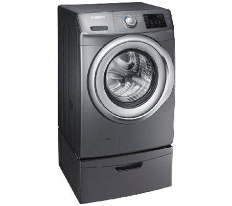Samsung Front Load Washer Pedestal samsung 4 2 cuft front load washer w steam pedestal platinu qvc