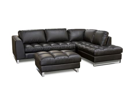 black sofa legs black bonded leather valentino sectional sofa w metal legs